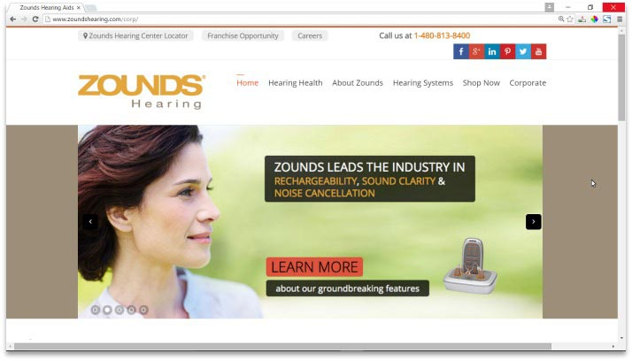 Zounds Hearing Website