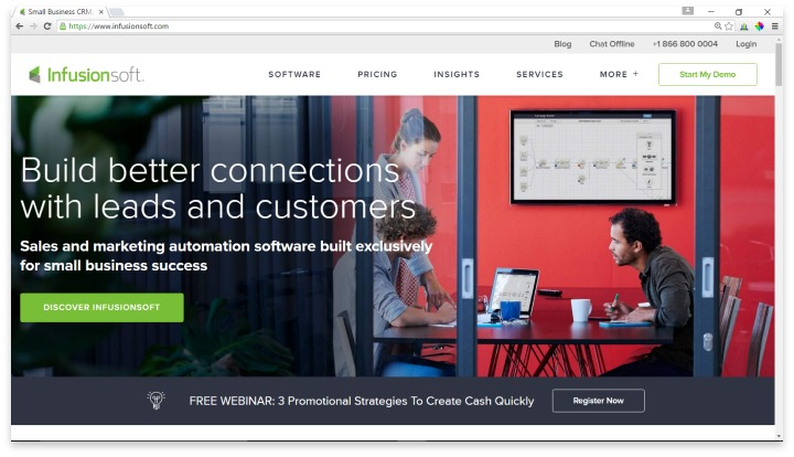 Infusionsoft Website