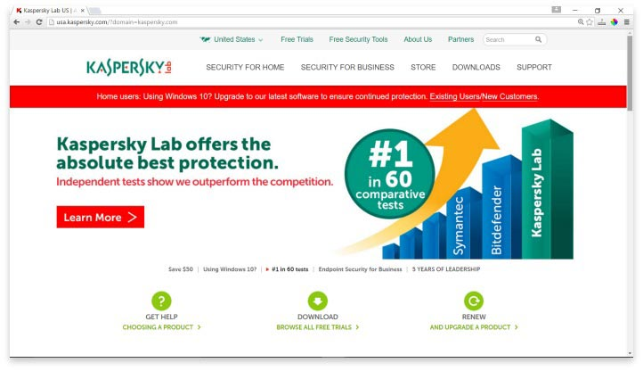 Kaspersky Website