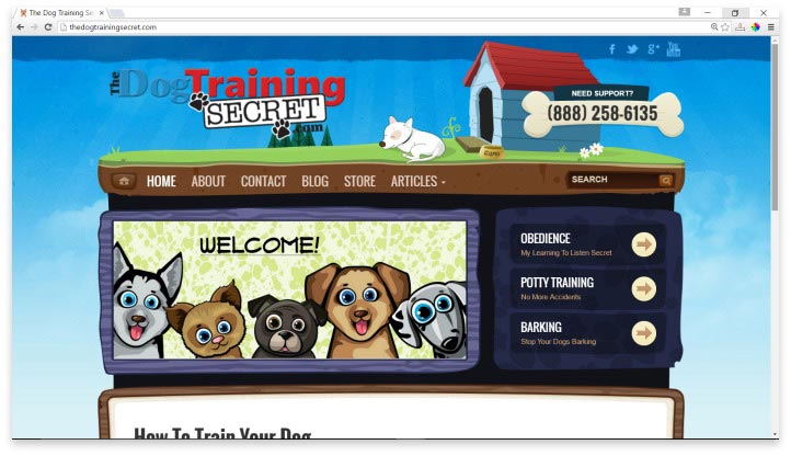 The Dog Training Secret Website