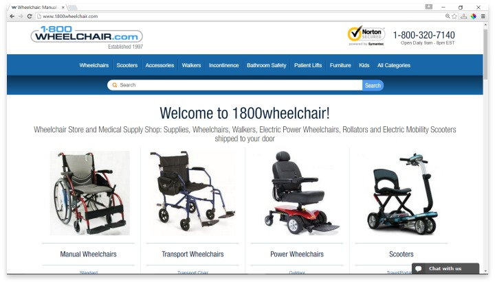 1800wheelchair.com Website
