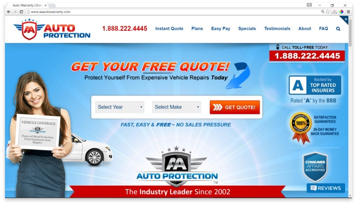 AA Auto Protection Website