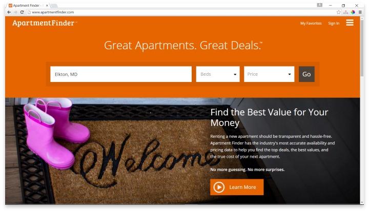 ApartmentFinder Website