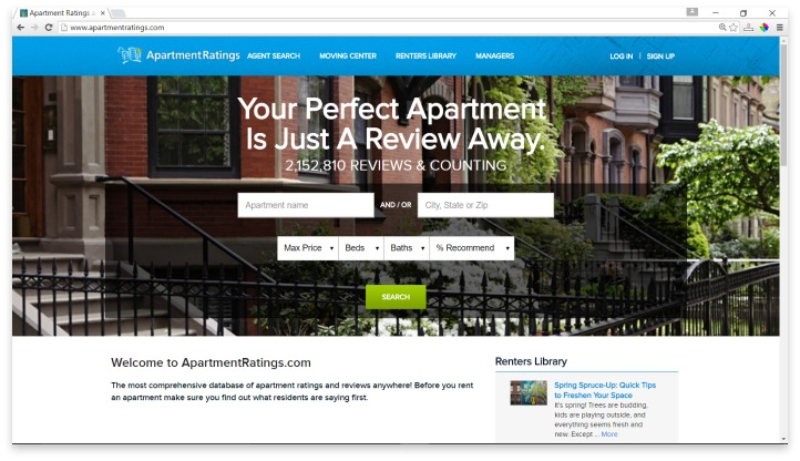 Apartment Ratings Website