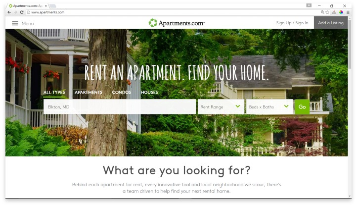 Apartments.com Website