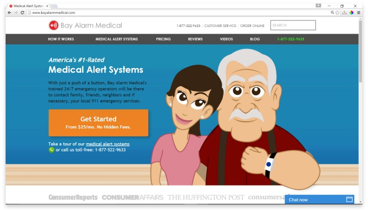 Bay Alarm Medical Website