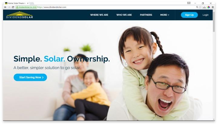 Dividend Solar Website