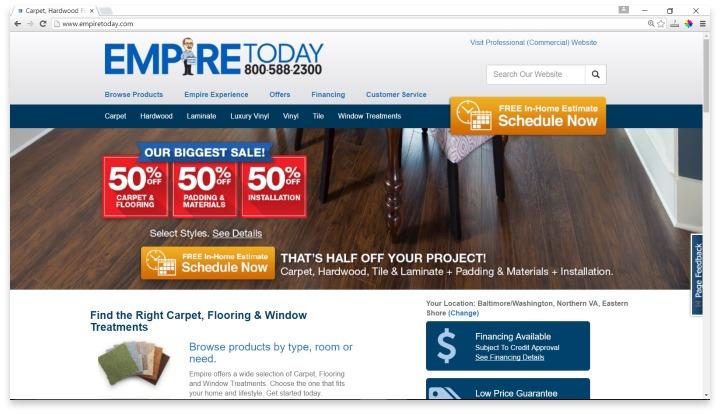 Empire Today Website