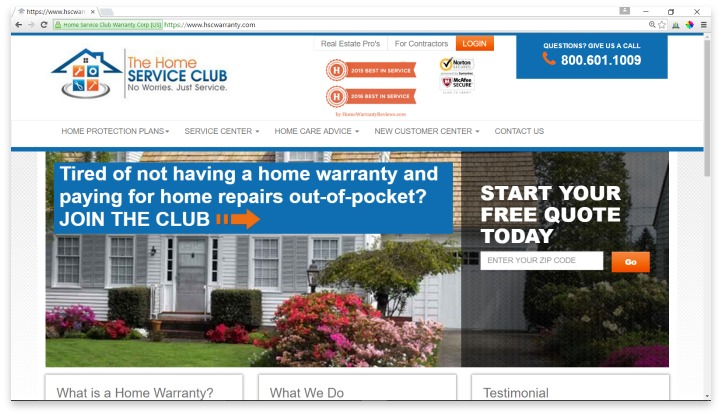 Home Service Club Website
