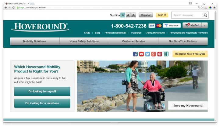 Hoveround Website