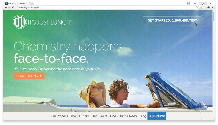 Its Just Lunch Website