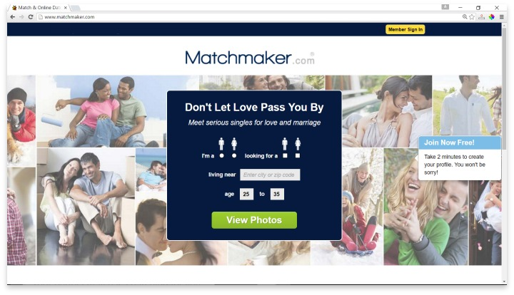 Matchmaker.com Website
