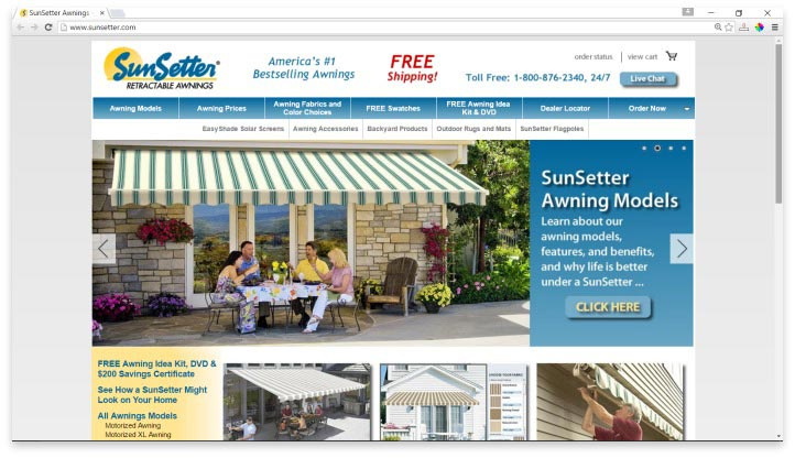 SunSetter Website