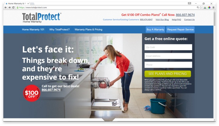 TotalProtect Website
