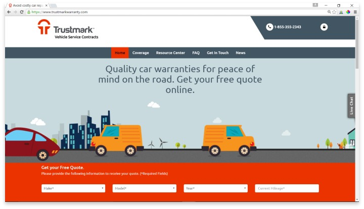 Trustmark Warranty Website