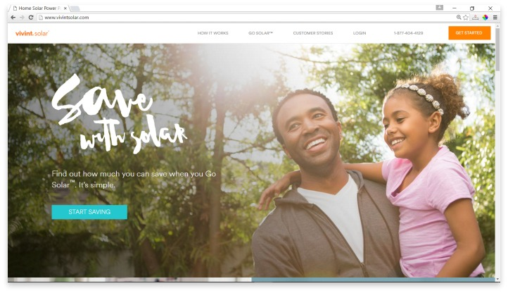 Vivint Solar Website