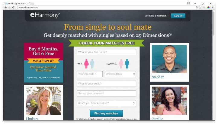 eHarmony Website