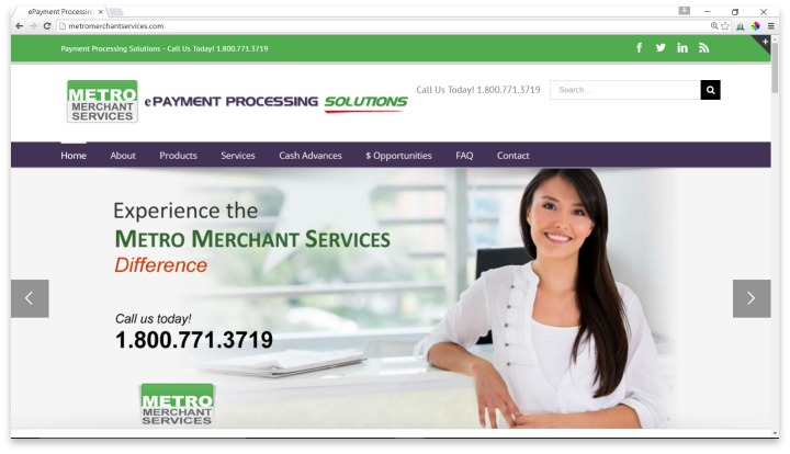 Metro Merchant Services Website