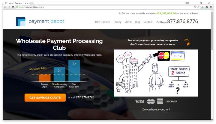 Payment Depot Website