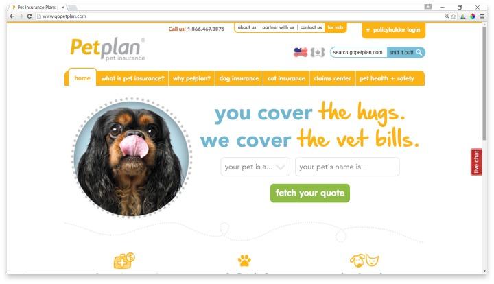 Petplan Website
