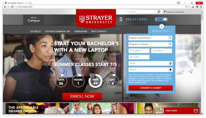 Strayer University Website