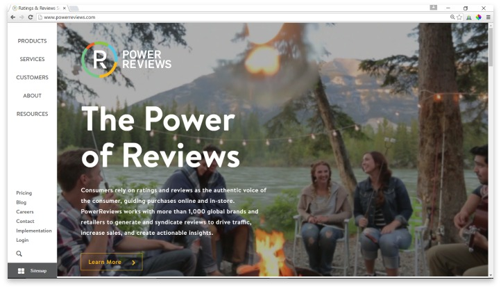 PowerReviews Website