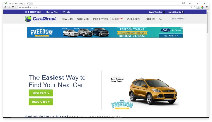 CarsDirect Website
