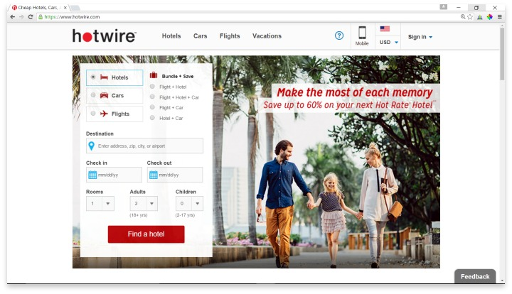 Hotwire Website