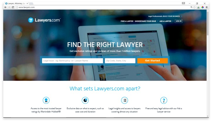 Lawyers.com Website