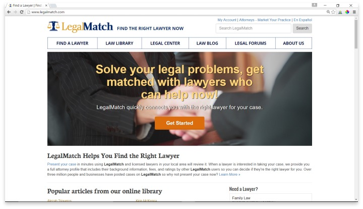 LegalMatch Website