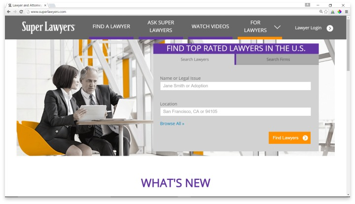 Super Lawyers Website