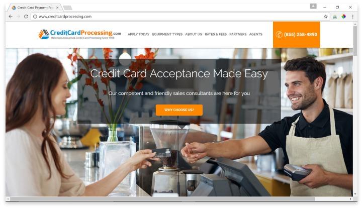 CreditCardProcessing.com Website
