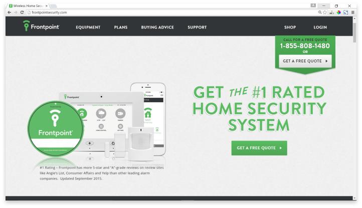 Frontpoint Website