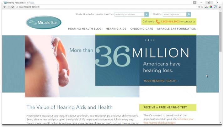 Miracle-Ear Website