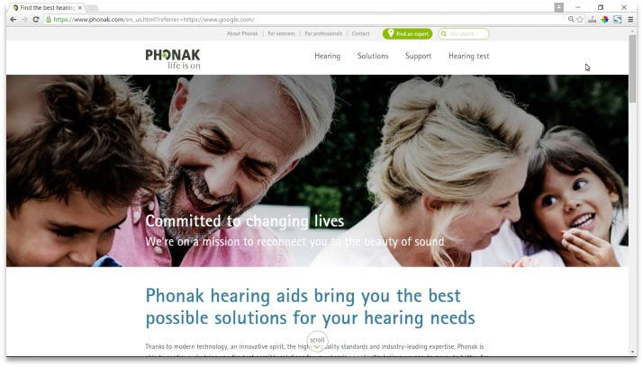 Phonak Website