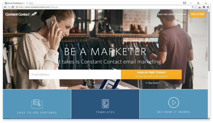 Constant Contact Website