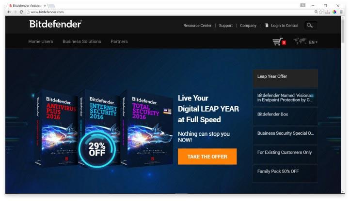 Bitdefender Website
