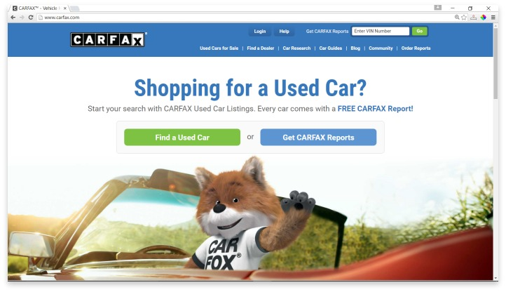 Carfax Website