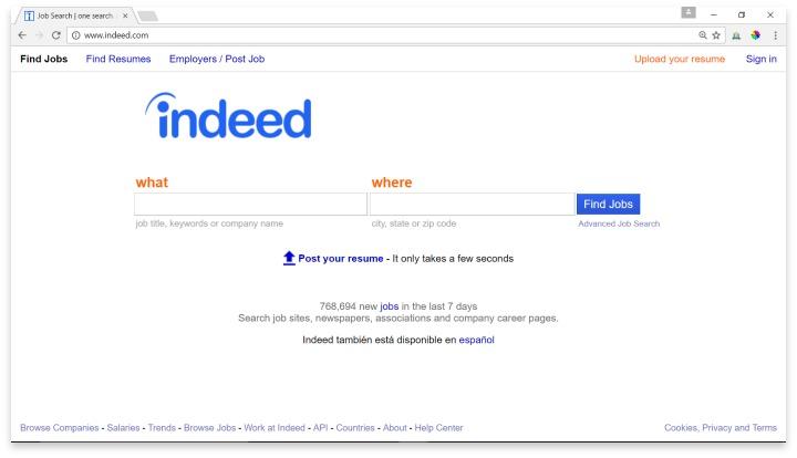 Indeed Website