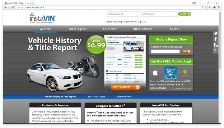 InstaVin  Website