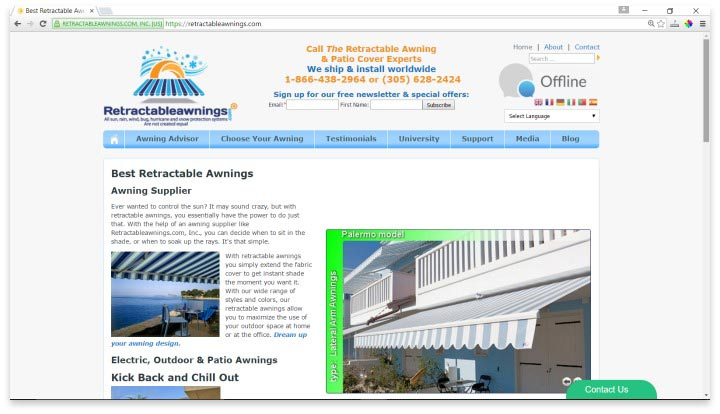 Retractable Awnings Website