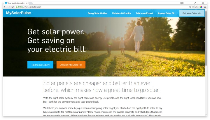 My Solar Pulse Website