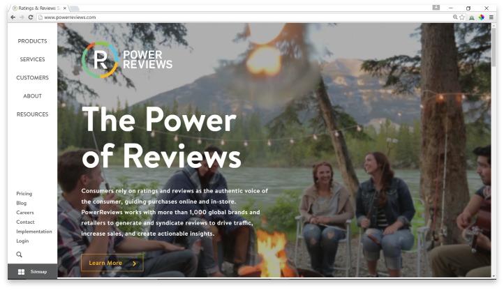 PowerReviews Website