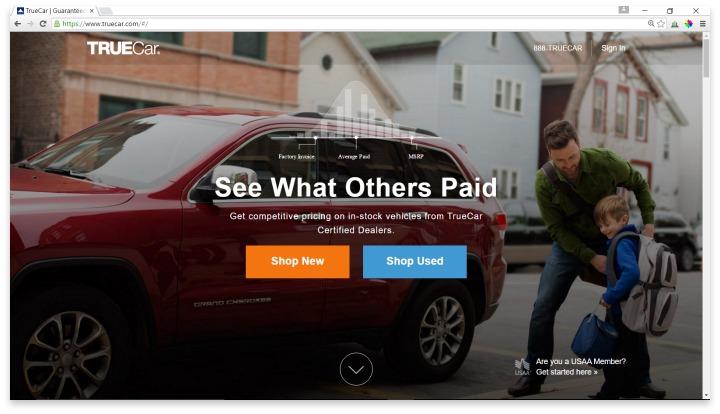 TRUEcar Website